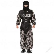Dětský karnevalový kostým POLICISTA KOMANDO 120 -130cm ( 5 - 9 let )